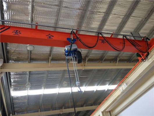 Standard single girder overhead crane