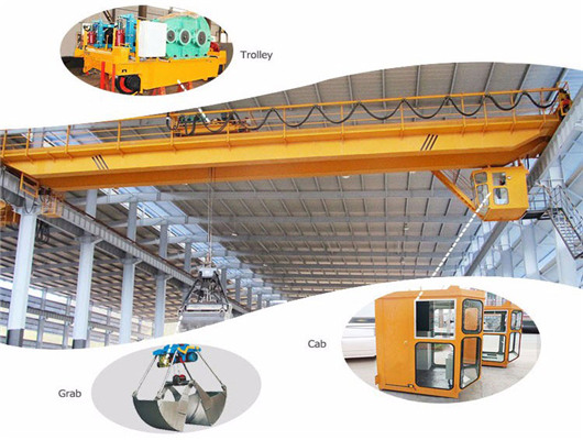 Weihua QZ grab bridge crane for sale